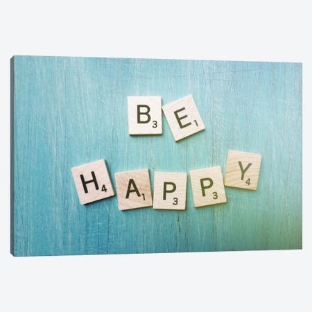 Be Happy Canvas Print #OJS51} by Olivia Joy StClaire Canvas Wall Art