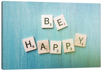 Be Happy Canvas Print #OJS51