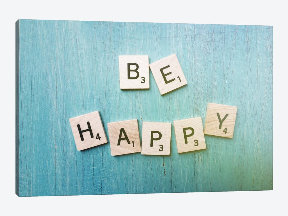 Be Happy by Olivia Joy StClaire 1-piece Canvas Wall Art