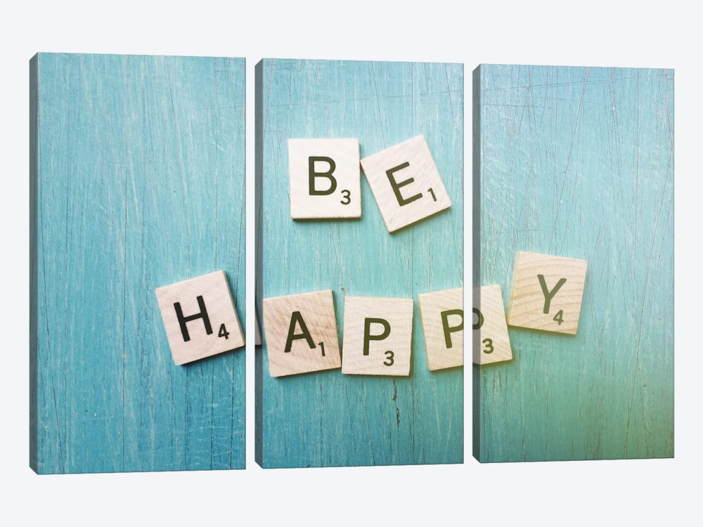 Be Happy by Olivia Joy StClaire 3-piece Canvas Art