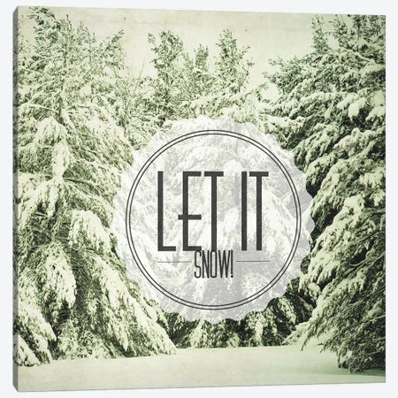Let It Snow Canvas Print #OJS63} by Olivia Joy StClaire Canvas Print