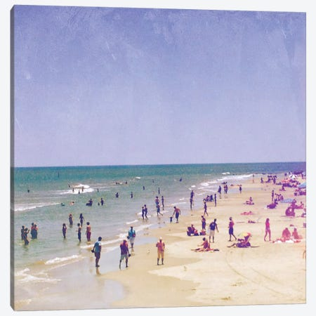Life Is Better At The Beach Canvas Print #OJS65} by Olivia Joy StClaire Canvas Artwork