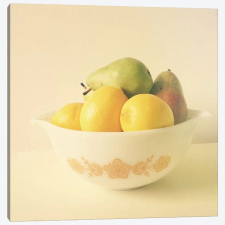 Retro Fruit Canvas Print #OJS71} by Olivia Joy StClaire Canvas Art