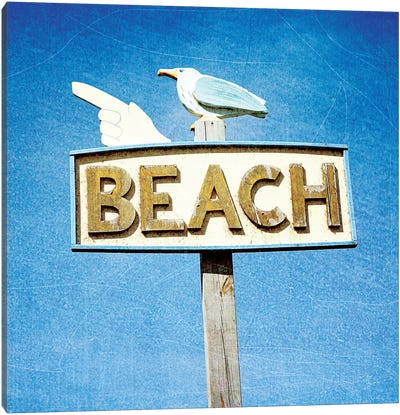 THIS WAY TO BEACH Canvas Art Print