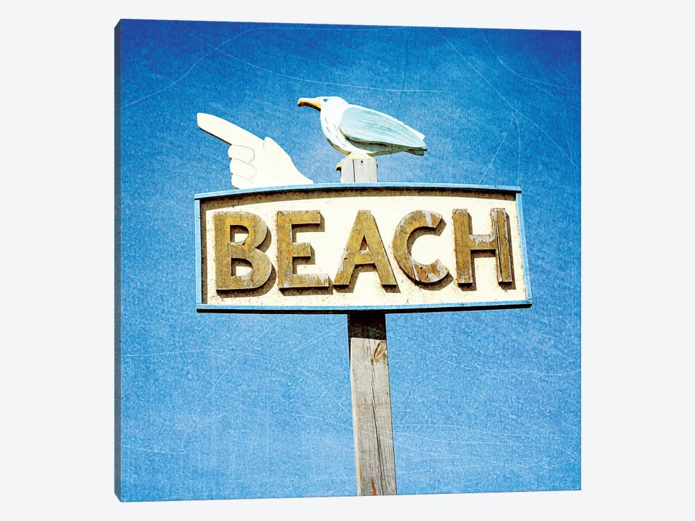 THIS WAY TO BEACH by Olivia Joy StClaire 1-piece Canvas Wall Art
