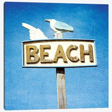 THIS WAY TO BEACH Canvas Print #OJS82} by Olivia Joy StClaire Art Print