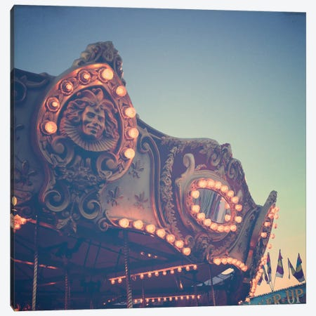 Twilight Carnival Ride Canvas Print #OJS84} by Olivia Joy StClaire Canvas Wall Art