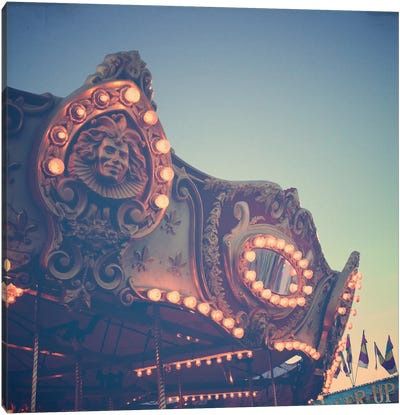 Twilight Carnival Ride Canvas Art Print