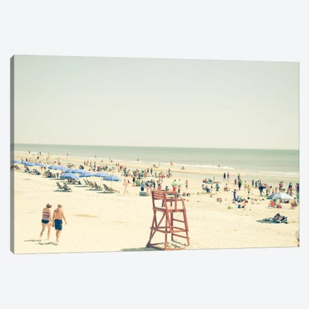 Beach People Canvas Print #OJS8} by Olivia Joy StClaire Canvas Art Print