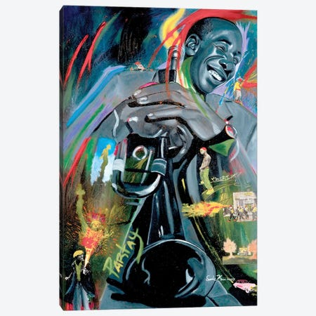 Grooving On A High Note Canvas Print #OKA22} by Oronde Kairi Canvas Artwork