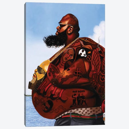 Rick Ross Canvas Print #OKA39} by Oronde Kairi Art Print