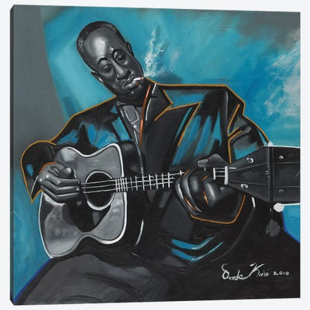 Big Bill Broonzy Canvas Print #OKA4} by Oronde Kairi Canvas Art