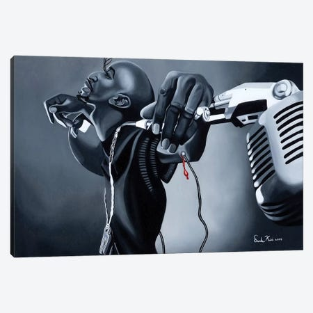 The Microphone Canvas Print #OKA53} by Oronde Kairi Canvas Art Print