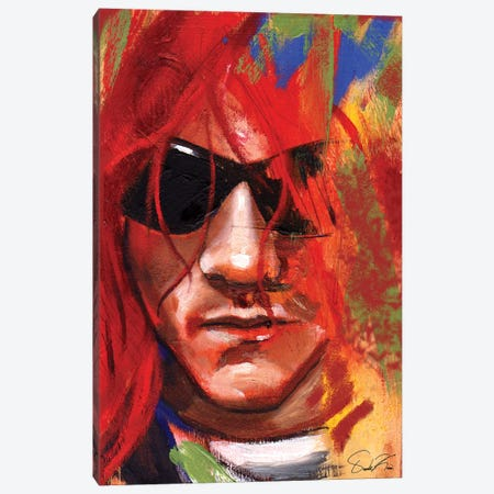Kurt Cobain Canvas Print #OKA58} by Oronde Kairi Canvas Art Print
