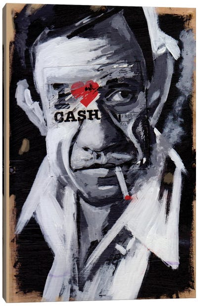 I Love Cash Canvas Art Print