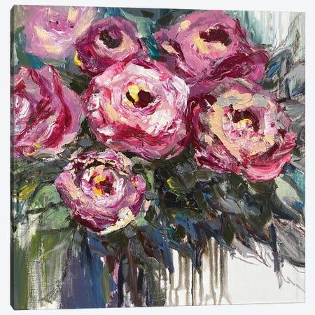 Roses Bouquet Canvas Print #OKP33} by Oksana Petrova Canvas Art