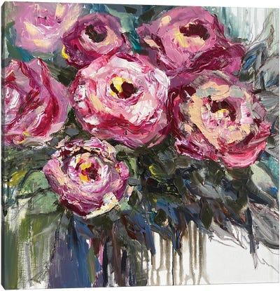 Roses Bouquet Canvas Art Print