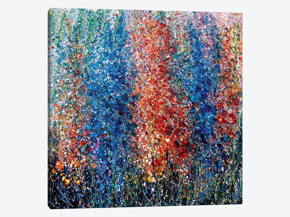 Eternal Spring Abstract Painting by OLena Art 1-piece Canvas Artwork