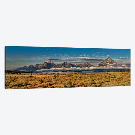 Grand Tetons Panorama  Canvas Print #OLE102} by OLena Art Canvas Wall Art