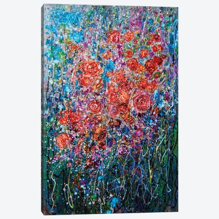 Climbing Roses Abstract Canvas Print #OLE10} by OLena Art Canvas Art