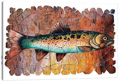 Vintage Red Trout Fresco Canvas Art Print