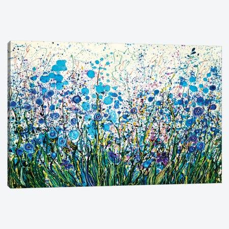 Mid Summer Meadow Flowers Canvas Print #OLE115} by OLena Art Canvas Artwork
