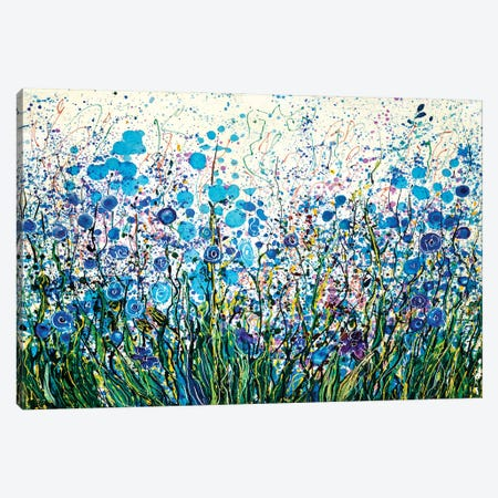 Mid Summer Meadow Flowers Canvas Print #OLE115} by OLena Art Canvas Artwork