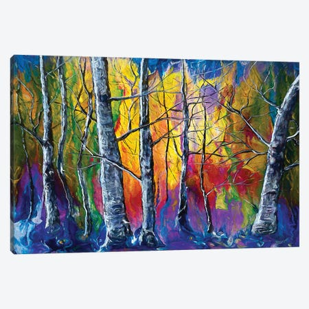 Enchanted Universe Sunset Forest Canvas Print #OLE117} by OLena Art Canvas Wall Art