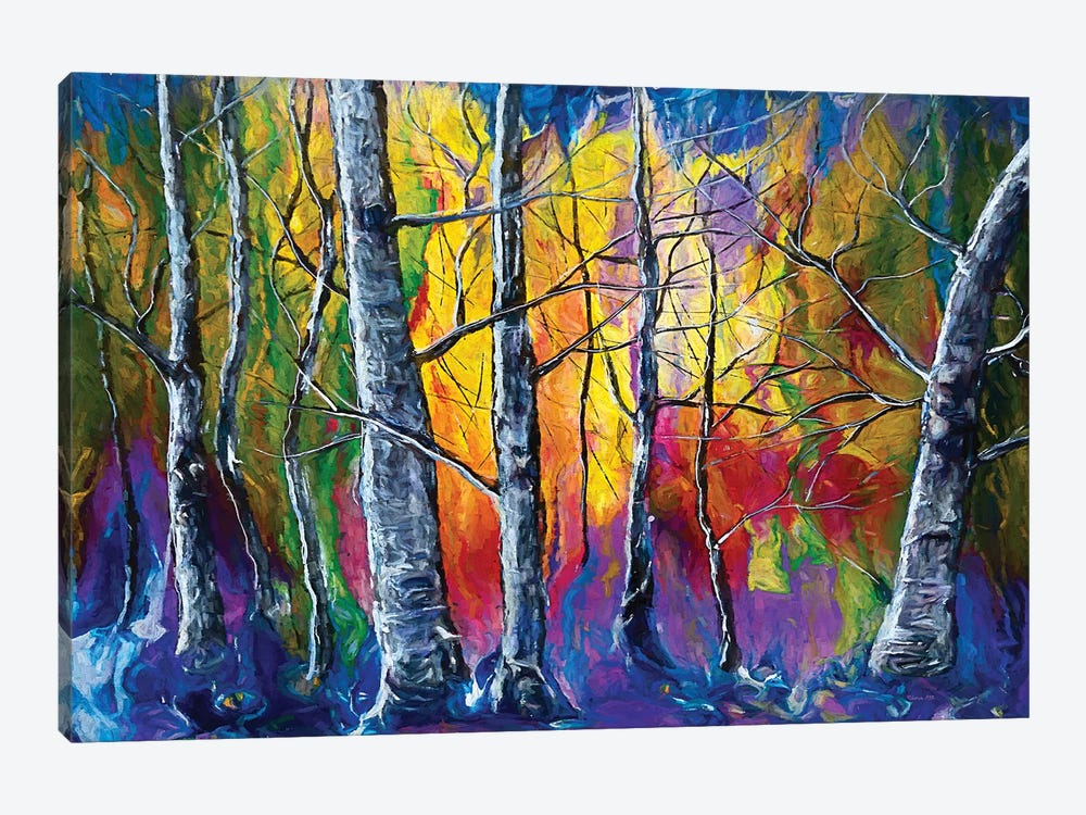 Enchanted Universe Sunset Forest by OLena Art 1-piece Canvas Art