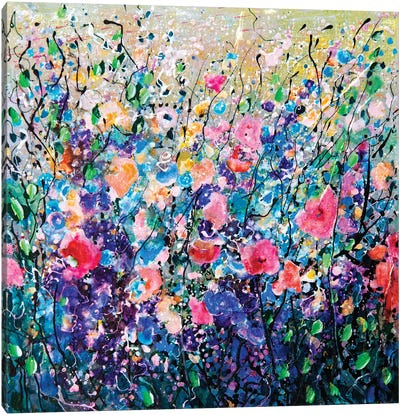 Colorful Flowers Painting  Canvas Art Print