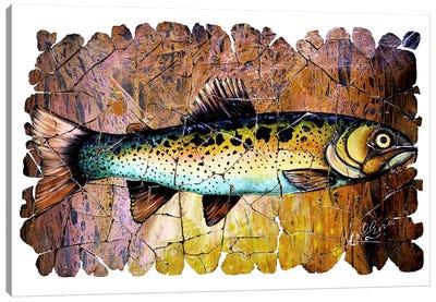 Red Trout Fresco  Canvas Art Print