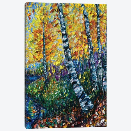 Colorado Landscape Painting Canvas Print #OLE12} by OLena Art Canvas Artwork