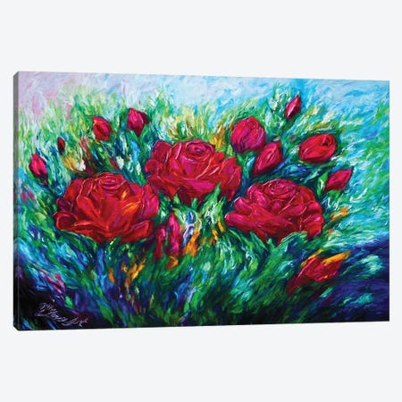 Red Roses Canvas Print #OLE141} by OLena Art Canvas Art