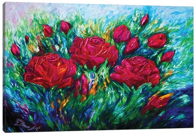 Red Roses Canvas Art Print