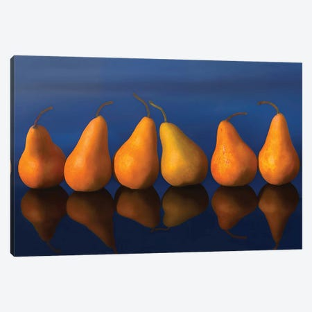 Pearfull Still Life Canvas Print #OLE153} by OLena Art Art Print