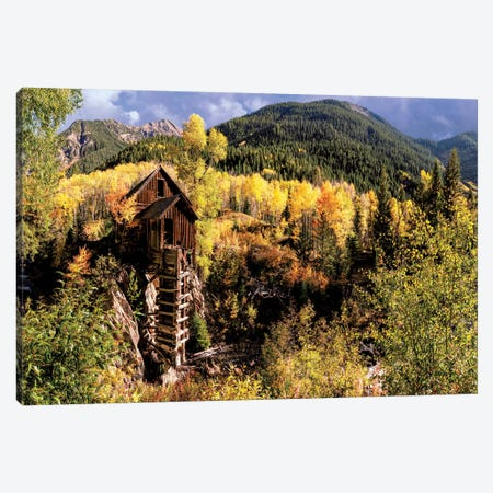 Colorado Autumn At Crystal Mill Canvas Print #OLE155} by OLena Art Canvas Art