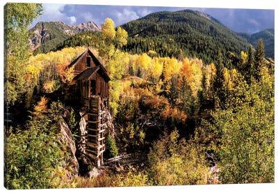 Colorado Autumn At Crystal Mill Canvas Art Print