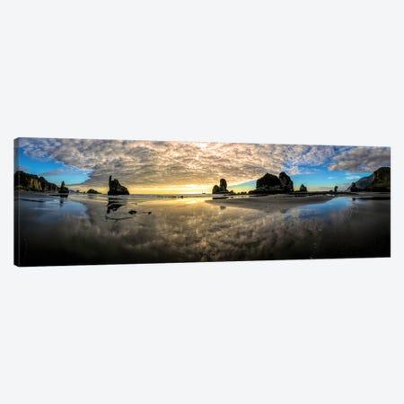 Before Sunset Motukiekie Beach West Coast New Zealand Canvas Print #OLE156} by OLena Art Canvas Artwork