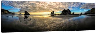 Before Sunset Motukiekie Beach West Coast New Zealand Canvas Art Print