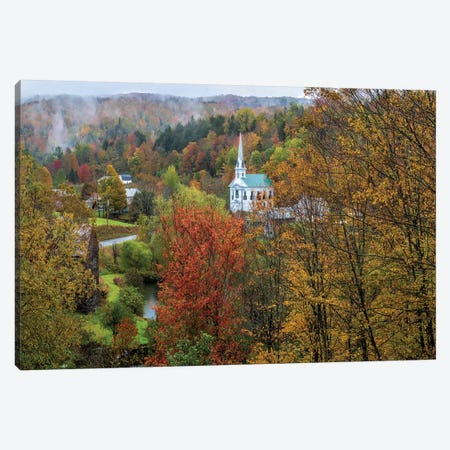 Divine Autumn In New England Canvas Print #OLE161} by OLena Art Canvas Artwork