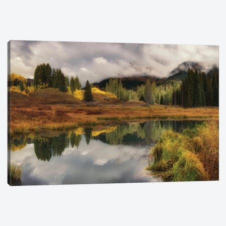 Transition Of The Seasons In Rocky Mountain Canvas Print #OLE166} by OLena Art Canvas Print