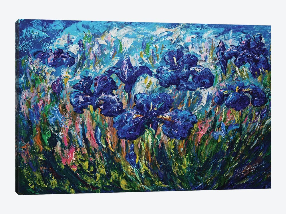 Countryside Irises by OLena Art 1-piece Canvas Artwork