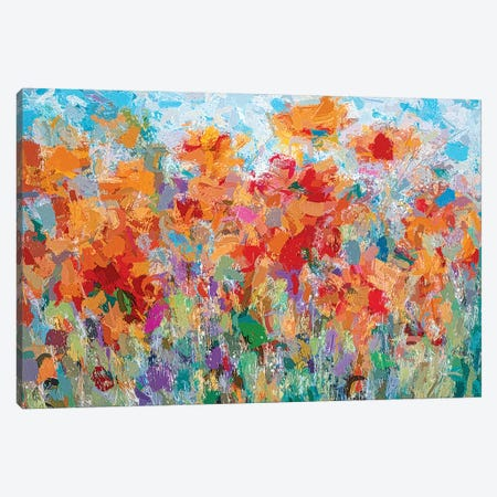 The Visionary Poetry Abstract II Canvas Print #OLE175} by OLena Art Canvas Wall Art