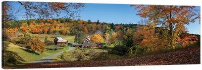Sleepy Hollow Farm Vermont Panorama Canvas Art Print