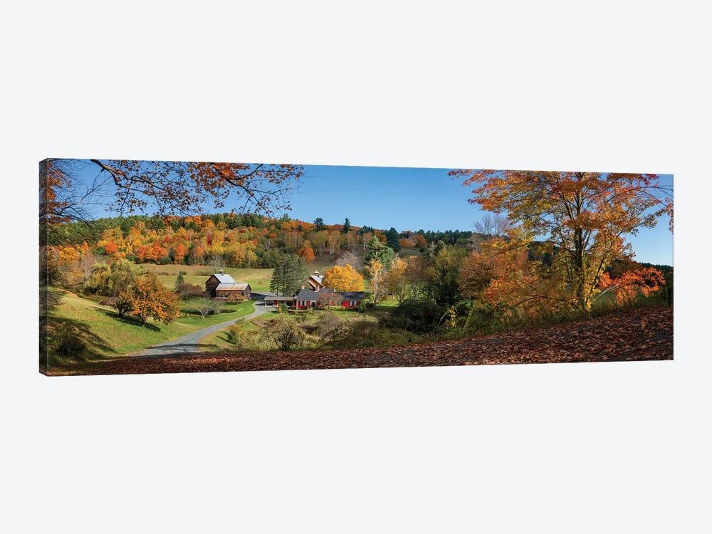 Sleepy Hollow Farm Vermont Panorama by OLena Art 1-piece Canvas Art