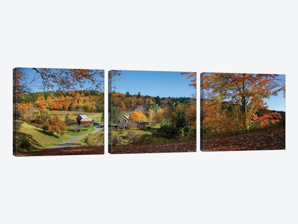 Sleepy Hollow Farm Vermont Panorama by OLena Art 3-piece Canvas Art