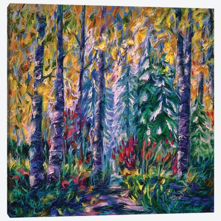 Deep In The Woods 3-Piece Canvas #OLE17} by OLena Art Canvas Print