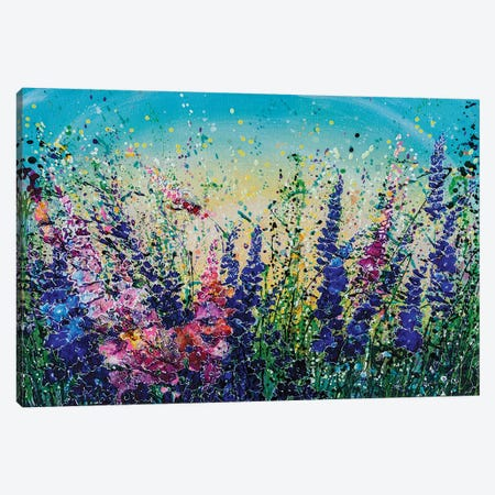 Mile High Wildflowers Canvas Print #OLE182} by OLena Art Canvas Wall Art