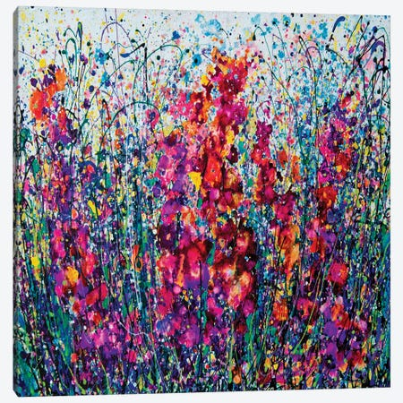 The Breath Of Summer Square Canvas Print #OLE189} by OLena Art Canvas Wall Art