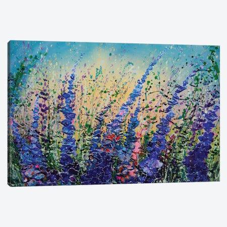 Love Blue Summer Skies Canvas Print #OLE194} by OLena Art Canvas Wall Art
